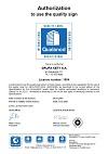 Grupa KĘTY S.A. – Certificate Qualanod